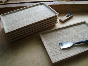 木の器 栗の木のトレー