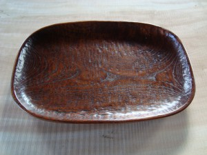 木の器 だ円皿