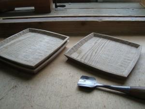 木の器 銘々皿