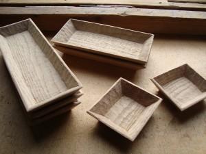 木の器 角鉢 角皿