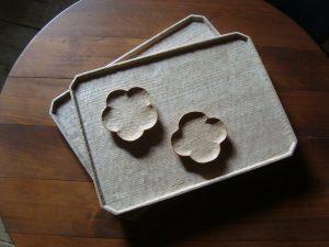 栗の木 隅切盆 豆皿