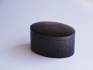 だ円の箱 手彫り