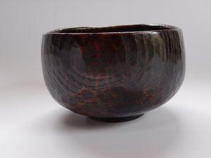 木の抹茶茶碗